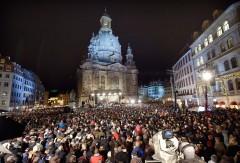 21.000 Menschen bei weihnachtlichen Vesper vor der Dresdner Frauenkirche