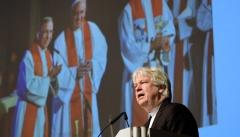 Landesbischof Karl-Hinrich Manzke, Catholica-Beauftragter der VELKD, bei seinem Bericht.