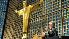Der neue evangelische Militärbischof Sigurd Rink während seiner Predigt in der Berliner Kaiser-Wilhelm-Gedächtniskirche